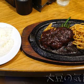 ハンバーグステーキ カニコロッケ添(ライス・みそ汁付セット)(アレックス )