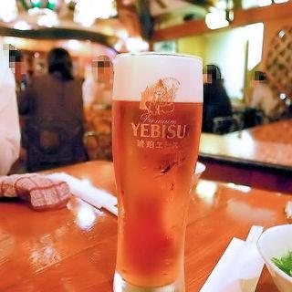 琥珀エビス生ビール(グラス)(浪曼房)