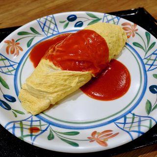 トマトソースオムライス(たまご丸)