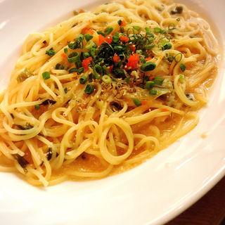 明太子クリームパスタ(マルノウチ カフェ × ワイアードカフェ (Marunouchi Cafe × WIRED CAFE))