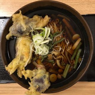 山菜そば(みょうが天)(おか田 )