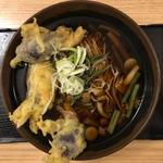 山菜そば(みょうが天)