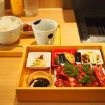 熟成和牛最高級盛り合わせ&松花堂弁当(お肉1.5倍)