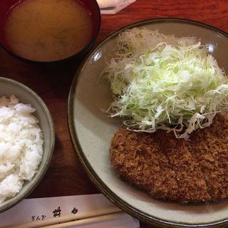 とんかつ定食(中)(銀座 井泉 (ぎんざ いせん))