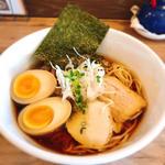 鶏だしらーめん(醤油)味玉入り+メンマ(38 NOODLE KITCHEN (サンパチ ヌードルキッチン))