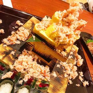 かにぶっかけ出汁巻き卵(北海道海鮮 にほんいち 本町店)