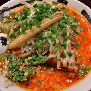 もやしカラシビ味噌らー麺(カラシビつけ麺 鬼金棒 (キカンボウ))