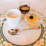 デザート3種 杏仁豆腐、プアール茶のゼリー、マンゴープリン(ランチコース)