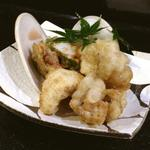 ハマグリと伝助穴子の天ぷら