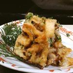 蟹と松茸のかき揚げ