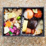 松茸ご飯と手まり寿司弁当
