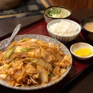 豚キムチ炒め定食