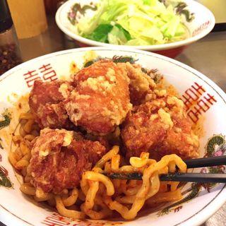 ハイパー汁なしタンタン麺とり唐ボンバー大盛りの5辛(デブソバ リパブリック御器所店)