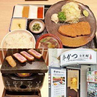 牛かつ麦飯セット 130g(牛かつもと村 六本木店)