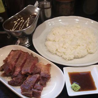 国産リブロースステーキカレー(100時間カレー B&R 武蔵小杉店 (ビーアンドアール))