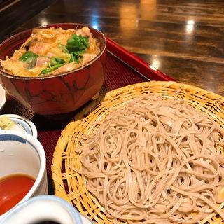 せいろそばと鴨の柳川丼(禅味 一茶庵本店)