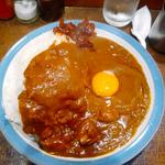 チキンカレー大盛生玉子(マーブル )