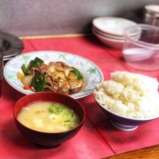 焼肉定食(一楽ラーメン 志免店)