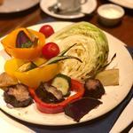 野菜のグリル バーニャカウダソース(ビストロ ステーキ ティーボーン)