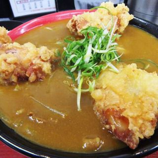 鶏天カレーうどん(極楽うどん TKU (ティーケーユー))