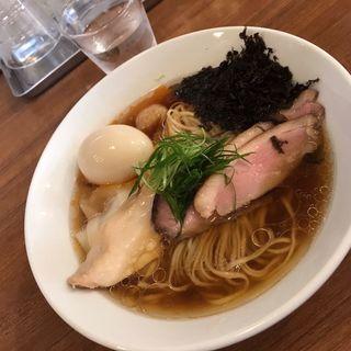 鶏豚海鮮の醤油らぁ麺  特製トッピング(らぁ麺 川たか)