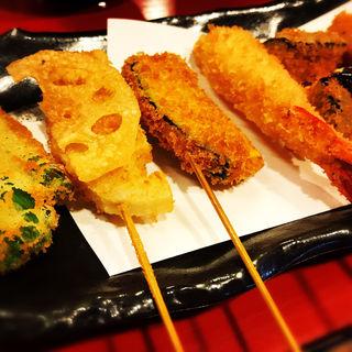 串カツ定食8本串