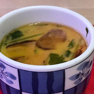 松茸茶碗蒸し(あんかけ)