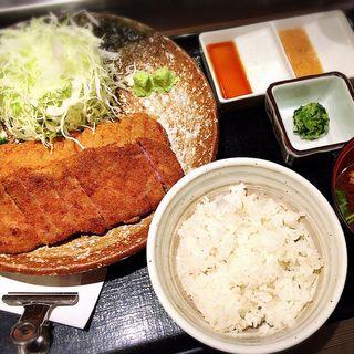 牛カツセット(牛かつもと村 渋谷宮益坂店 )