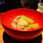 冬瓜と牛スジ塩昆布煮
