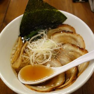 醤油チャーシュー麺(博多鶏塩らぁめん みやびや)