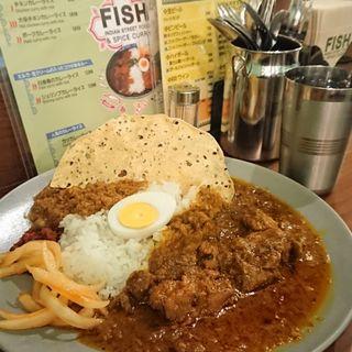 チキン&キーマカレーライス(FISH )