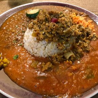 チキンキーマ+トマトカレー+お肉(ラム)カレー (SOMA (ソーマ))