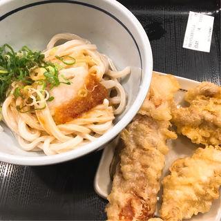 冷し鶏天おろし醤油うどん(おにやんま 新橋店)