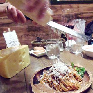 ふわふわチーズの山小屋W(ホワイト)ボロネーゼ(Cheese Cheers Cafe 三宮)