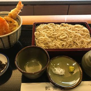 ざるそばと小天丼(藪蕎麦)