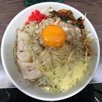 小ラーメン・汁なし・ニラキムチ・粉チーズ・ネギ(ラーメン二郎 横浜関内店 (らーめんじろう))