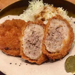メンチカツ定食(博多もつ鍋 やまや 京橋エドグラン店)