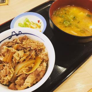 得朝ミニ牛めし豚汁セット(松屋 三鷹南口店 )