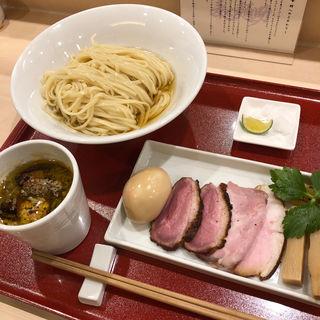 味玉鴨つけそば(麦と麺助 新梅田中津店)
