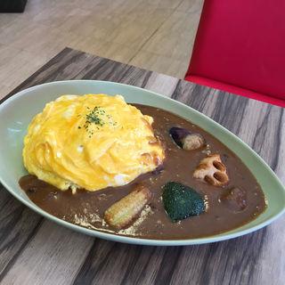オムカレー(カフェ&カレー茶伽蔵 京都寺町店 )