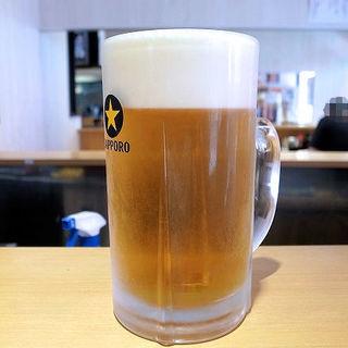 サッポロ生ビール 黒ラベル樽生 メガ生(1000ml)(天麩羅処 すずや)