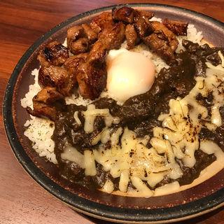 ラムカレー せせり+チーズ +温玉(ひつじもんDX 西麻布店)