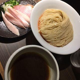 海老出汁細つけ麺中盛、鶏チャーシュートッピング(つけ麺一燈 (ツケメンイットウ))