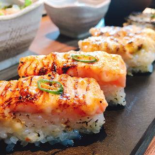 アブリシャス8貫定食(KINKA sushi bar izakaya 六本木)