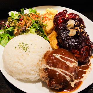 トンテキ&ハンバーグコンボ(獣肉酒場 山猫軒)