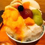 フルーツいっぱいかき氷