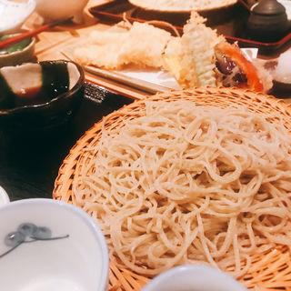穴子天せいろ(手打蕎麦 まるやま)