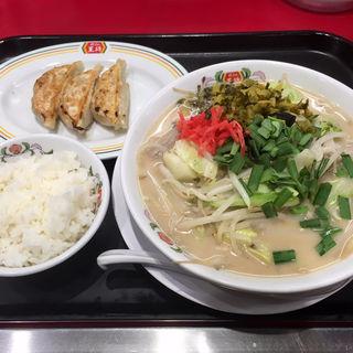 野菜たっぷりもつ煮込み豚骨ラーメン/フェアセットB(餃子の王将 狸小路5丁目店)