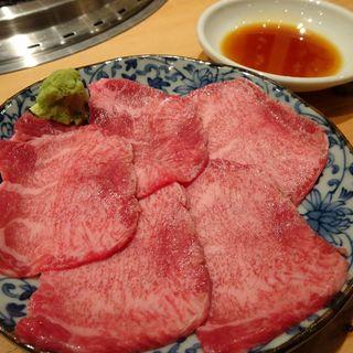 タン刺(大衆焼肉ホルモン大松)