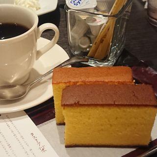 文明堂 特撰カステラ 二種あわせ、京都宇治茶(文明堂カフェ (BUNMEIDO CAFE))